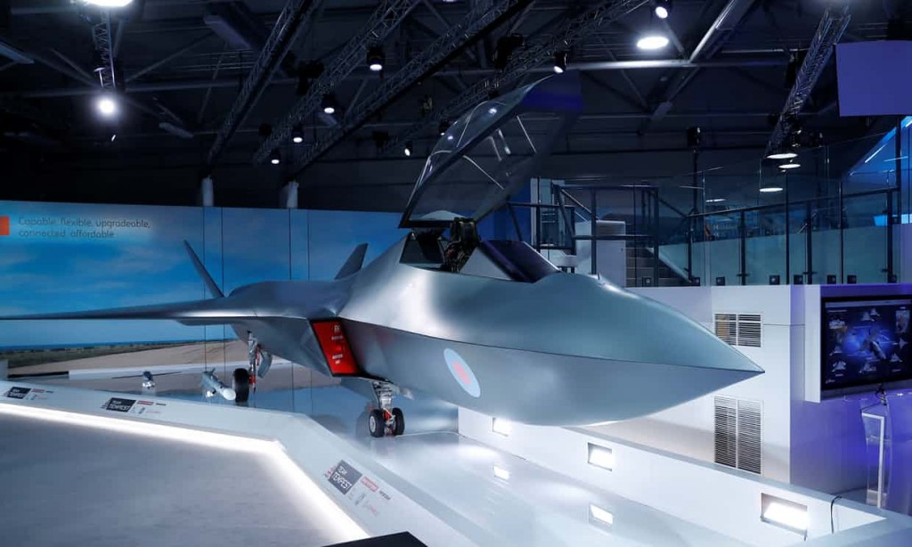 Model of the Tempest fighter unveiled at the Farnborough Air Show. Click to enlarge