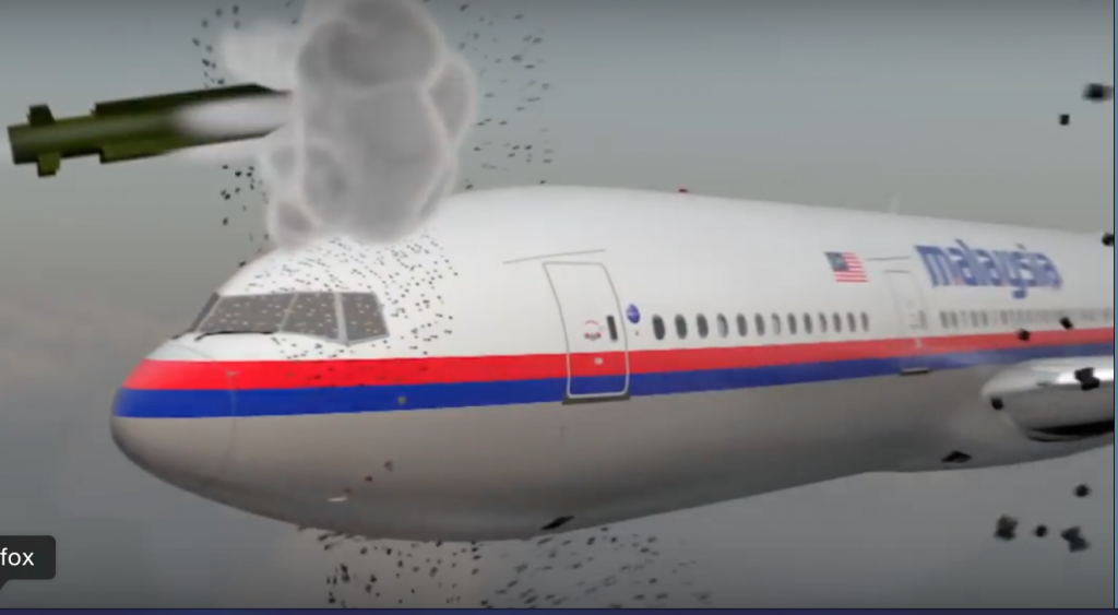 Screenshot from MH17 video