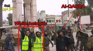 White Helmets with al Qaeda militants. Click to enlarge