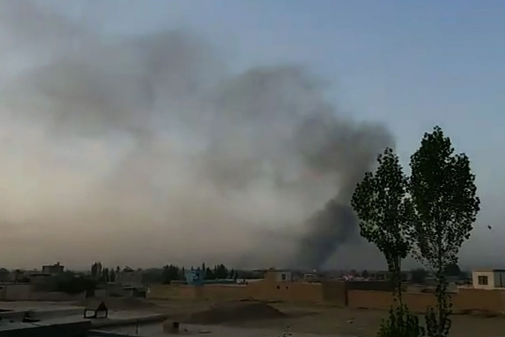 Aftermath of Taliban attack on Ghazni. click to enlarge