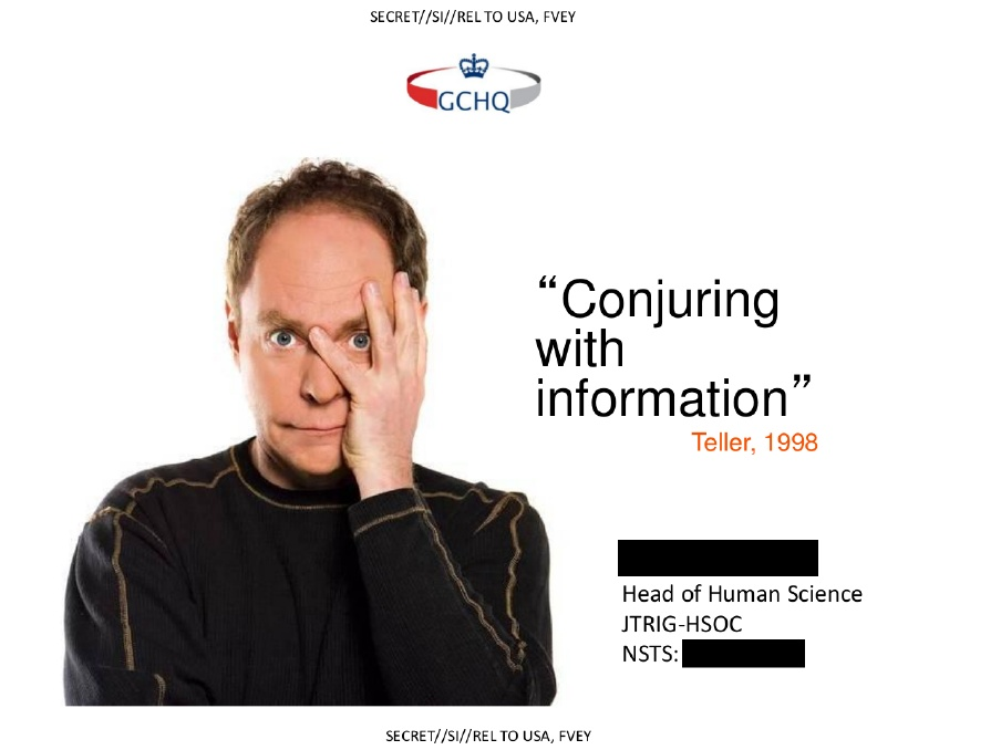 Conjuring with information