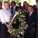 Corbyn at wreath laying ceremony