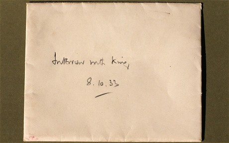 The envelope that Arian Grey discovered among his grandfather's records. Click to enlarge