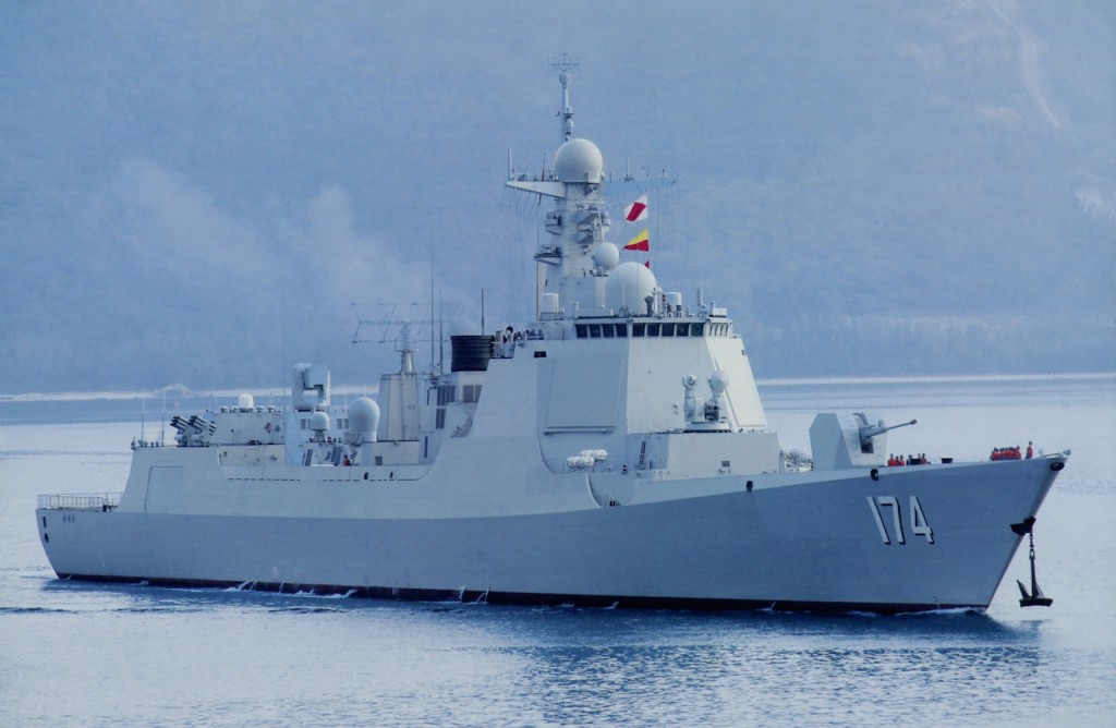 Type 052D Luyang-III Class destroyer. Click to enlarge