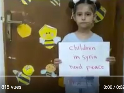 Little Hala (six years old) was chosen by MI6 to announce a new chemical attack blamed on the Syrian « régime » against the civil population of Idib.