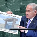 "Netanyahu presents UN with ""evidence of Iranian secret nuclear warehouse"". Click to enlarge"