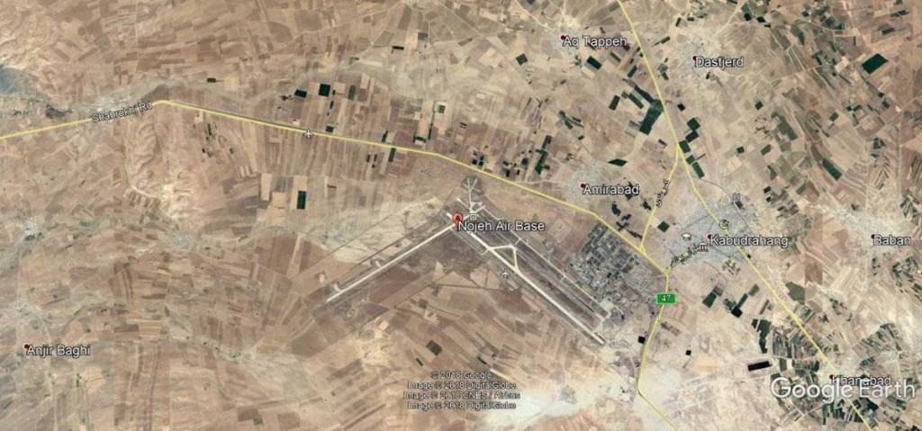 Noyeh military airbase, Iran. Click to enlarge