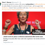 Pro Israeli Terror Threat at Labour Conference Covered Up By MSM