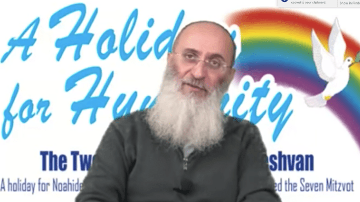 Rabbi Oury Cherki, head of the Noahide World Center. Click to enlarge