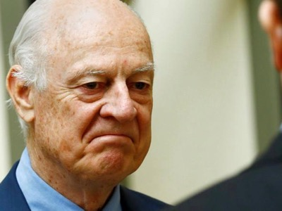Nominated in 2014, before the Russian military intervention against the jihadists, Staffan de Mistura is a pro-US diplomat whose job consists of working for peace in Syria in the name of the UNO. Four years later, he continues to seek loop-holes which benefit the Western powers.