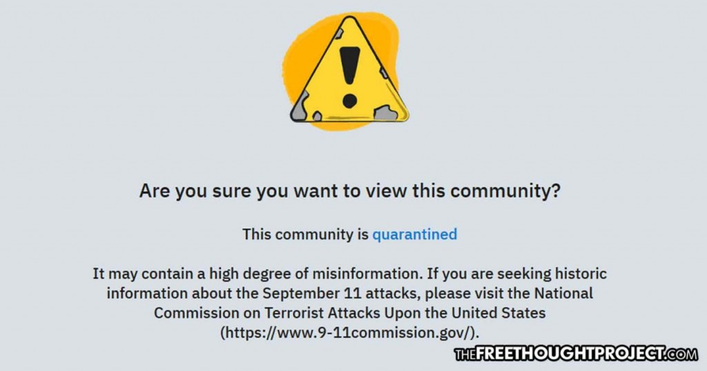 This community is quarantined