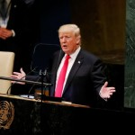U.S. President Donald Trump addresses the 73rd session of the United Nations General Assembly at U.N. headquarters in New York, U.S., September 25, 2018. Click to enlarge