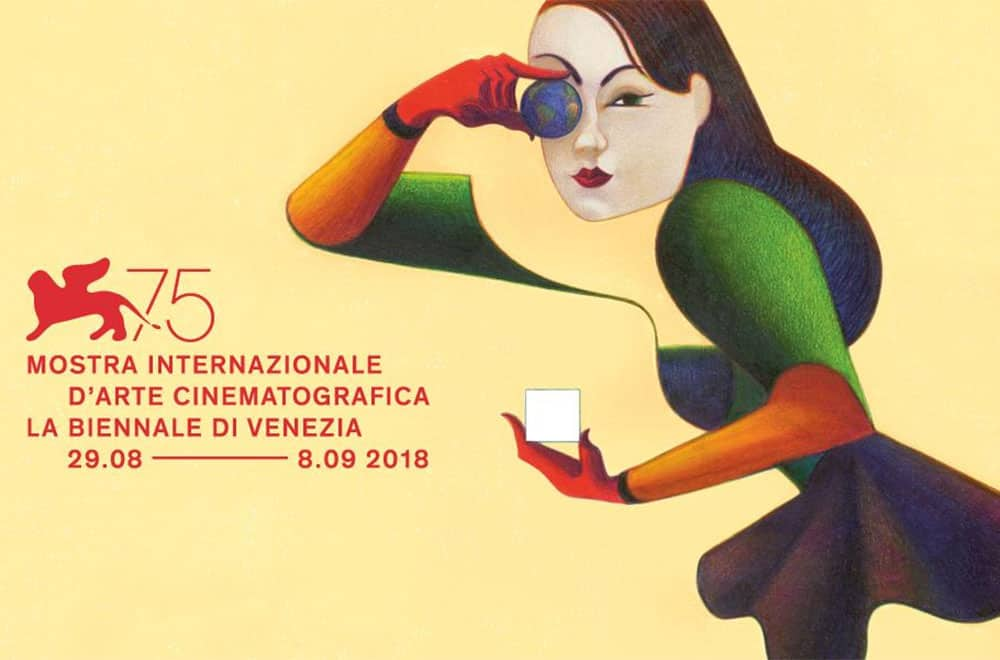 """The Venice International Film Festival is the oldest film festival in the world and one of the """"Big Three"""" film festivals, alongside the Cannes Film Festival and Berlin International Film Festival. This year's logo: A woman hiding one eye with the Earth. Click to enlarge"""