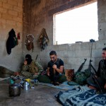 """What the NYT describes as """"Syrian rebel fighters"""" preparing last week in anticipation of an attack by government forces on Idlib. Click to enlarge"""
