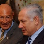 Arnon Milchan, left, with Netanyahu. Click to enlarge