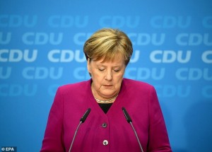 Merkel says she will quit as leader of the CDU in the coming days before standing down at the end of her term in 2021. Click to enlarge