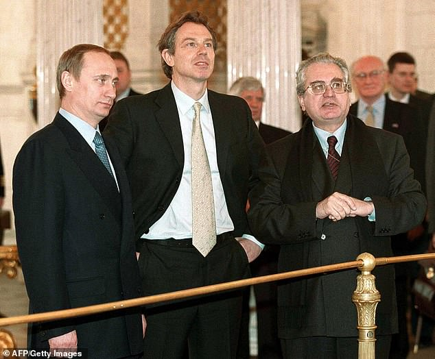 Vladimir Putin (left), then acting Russian President and former Prime Minister Tony Blair pictured touring the Hermitage in St Petersburg on March 11, 2000. Click to enlarge