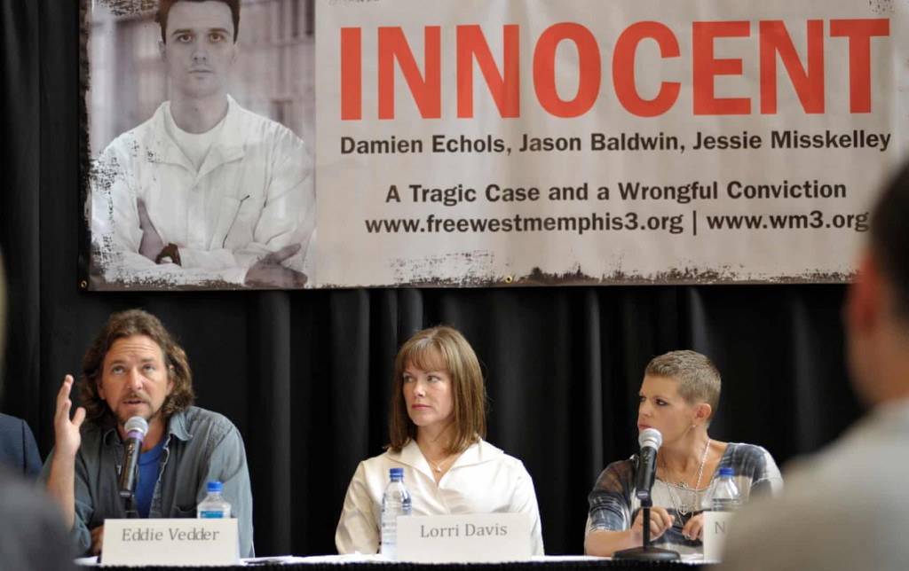 Supporters of the West Memphis Three argue there were two sets of victims from the 5 May 1993 crime: the three murdered eight-year-olds and Damien Echols, Jason Baldwin and Jessie Misskelley. Click to enlarge