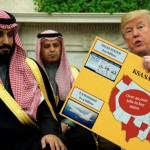 When he received the Saudi Crown Prince, « MBS », President Trump recapitulated the incredibly expensive orders from Riyadh to his country, and concluded with a smile : « You can afford this, right?».
