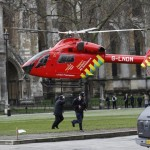 Air ambulance lands after the Westminster Bridge attack last year. Note the Masonic symbol between the two windows. Clcik to enlarge