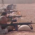 Firing range practice at al-Tanf base along the border with Jordan and Iraq. Click to enlarge