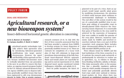 headline Agricultural Reasearch