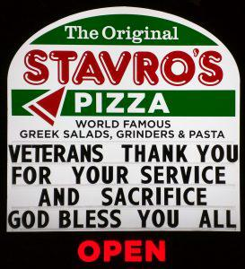 Corporate pizza chains for war