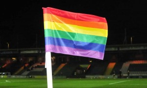 Rainbow corner flags and armbands arrive to welcome LGBT fans