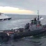 coast guard ship rams Ukrainian tugboat on Nov. 25. 2018, in Azov Sea.