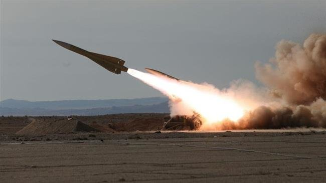 Shalamcheh medium range surface to air missile launched during the drill. Click to enlarge