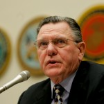 Retired Gen. John Keane, former Vice Chief of Staff for the Army, testifies on Capitol Hill in Washington, Friday, July 27, 2007, before the House Armed Services Committee hearing on two bills on troop deployment policies. (AP Photo/Susan Walsh)