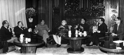 Mao in meeting with Communist Jewish advisors