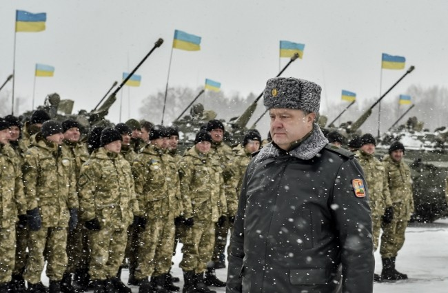 Poroshenko and resolution to declare war with Russia