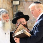 "POTUS visit the Western Wall, accompanied by the Western Wall's rabbi, Shmuel Rabinovitz and Mordechai ""Solly"" Eliav, Director General of the Western Wall Heritage Foundation. Jerusalem, May 22, 2017  Photo credit:  Matty Stern/U.S. Embassy Tel Aviv"