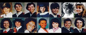 """14 bright futures snuffed out. They said """"we're not feminists."""" Click to enlarge"""