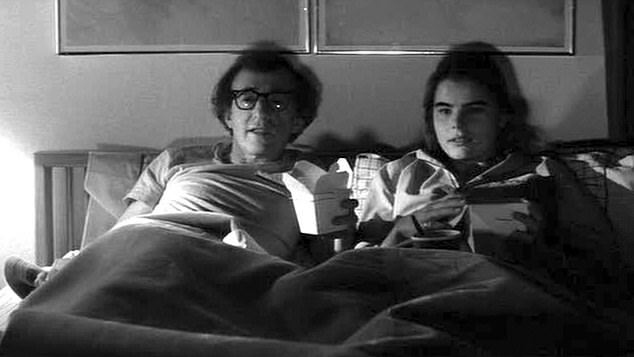 Woody Allen, 42, and schoolgirl Mariel Hemingway, 17. Their romance was depicted in his hit 1979 movie Manhattan. In her autbio, Hemingway said Allen also tried to bed her in real life.