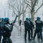 Bordeaux police gather for GJ protests January 2019.