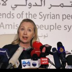Hillary Clinton, alongside Britain's William Hague, spearheaded the infamous 'Friends of Syria' (2011-2012) the US-led coalition's front group – together with Gulf states, organizing the proxy war against Syria