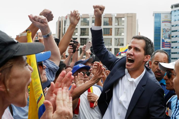 Youthful and photogenic, like a younger Obama, Juan Guaido is an obvious pick for the Western powers to do their bidding. Click to enlarge