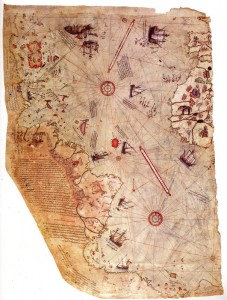 The Piri Reis world map, 1513. Artist: Piri Reis (1470-1553) Click to enlarge