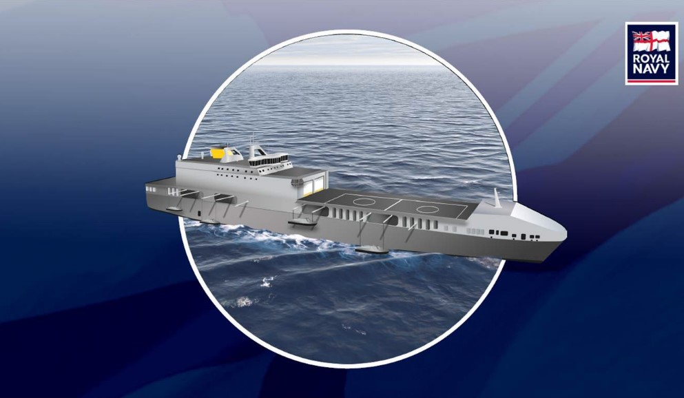 Artist conception of the proposed royal-navy-littoral-strike-ship