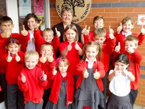 pupils at Middle Rasen Primary School in Lincolnshire. Click to enlarge