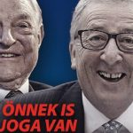 Hungarian government poster depicting George Soros and Jean-Claude Juncker. Click to enlarge