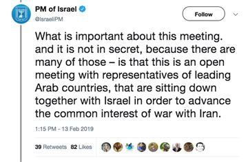 Netanyahu original tweet since deleted