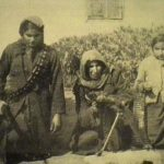 Palestinain female fighters in the struggle 1936-1939. Click to enlarge