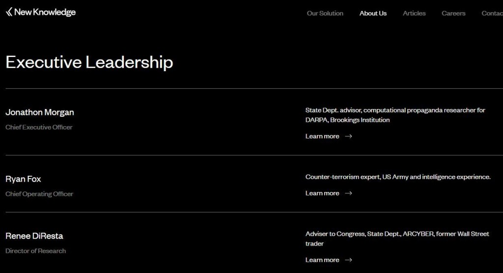 screenshot executive leadership