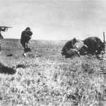 Execution of Jews by the German army mobile killing units (Einsatzgruppen) near Ivangorod, Ukraine. Click to enlarge