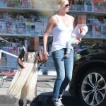 Charlize Theron and her adopted children. Click to enlarge