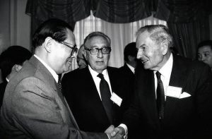 Rockefeller with Zhou Enlai - 'the first Premier of the People's Republic of China. Zhou was China's head of government, serving from October 1949 until his death in January 1976'. Click to enlarge