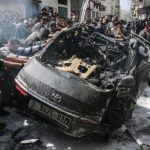 Car belonging to Hamas member was one of the first to be targeted. Click to enlarge